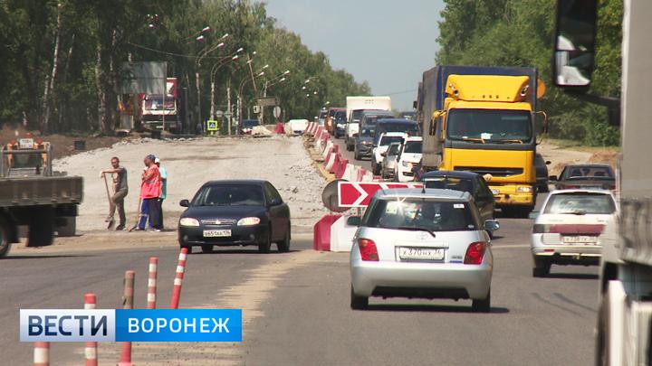 В Воронеже вновь изменится движение у строящейся развязки на 9 Января