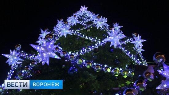 Воронежцы увидят лазерное и световое шоу на открытии главной новогодней ёлки