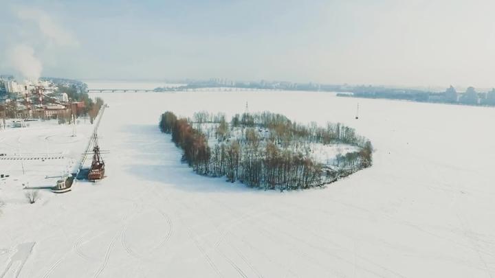 В сети появилось эффектное видео с видами Воронежа в самые холодные дни зимы