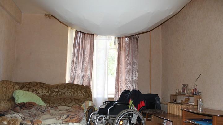 В Воронеже в комнате жилого дома обрушился потолок