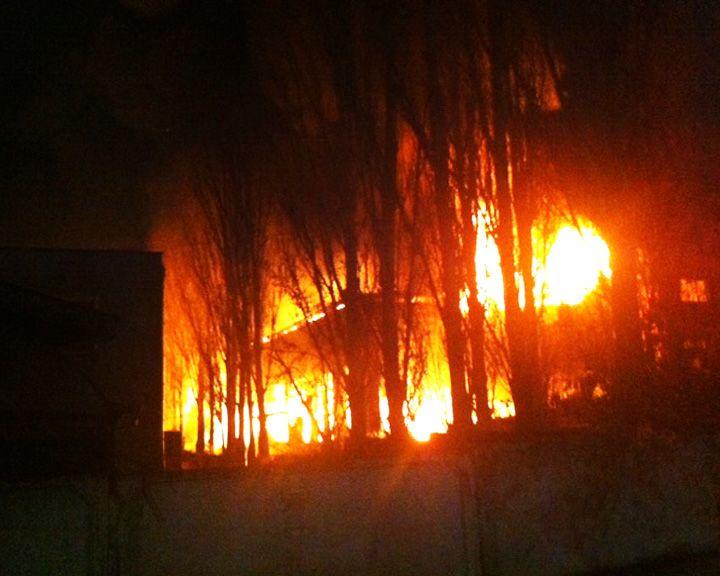 В Воронеже произошёл крупный пожар, есть жертвы