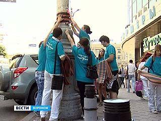 Активисты одного из движений украсили проспект Революции георгиевскими лентами