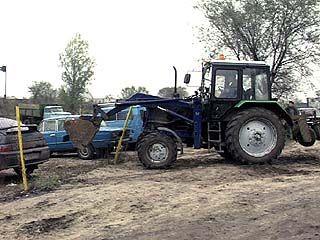 Автостоянку снесли в Воронеже