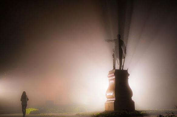 Воронежцы поделились в соцсетях фото ночного тумана