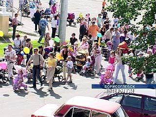 Борисоглебским автомобилистам перекрыли дорогу детские коляски