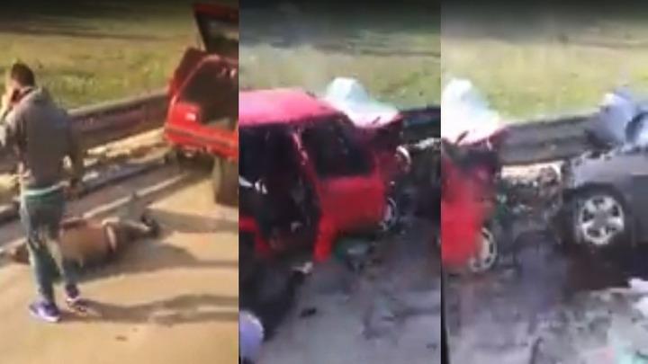 В Воронеже три водителя оказались в больнице после массового столкновения иномарок