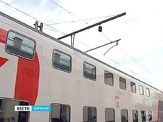 Двухэтажный поезд: впервые проездом через Воронеж