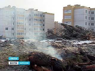 Дымовая завеса над Лисками: строители решили не тратиться на вывоз древесины