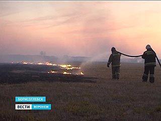 Едкий дым над Борисоглебском. На подмогу приехали пожарные из других районов