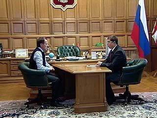 Глава области встретился с кандидатом на пост ректора ВГУ Василием Поповым