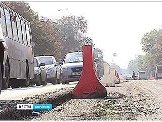 Главная магистраль Воронежа снова на ремонте