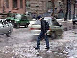 Гололед в Воронеже сменился потопом
