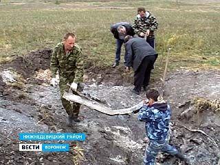 Группа воронежских энтузиастов нашла обломки советского бомбардировщика