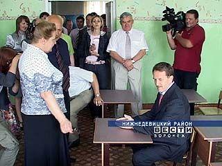 Губернатор побывал с рабочей поездкой в Нижнедевицком районе