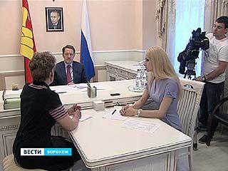 Губернатор принимал жалобы в приёмной президента России