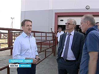 Губернатор проинспектировал ход строительных работ на мясохладобойне в Рамонском районе