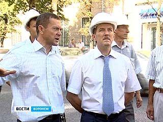 Губернатор проинспектировал три главных строительных объекта в Воронеже