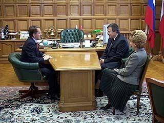 Губернатор провел встречу с председателем Фонда соцстраха России