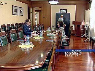 Губернатор Воронежской области встретился с Эльвирой Набиулиной