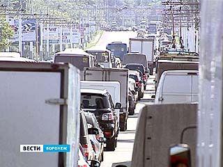 Из-за четырёх неработающих светофоров движение на Чернавском мосту встало