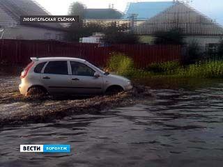 Из-за сильного ливня накануне несколько улиц в Воронеже оказались затоплены