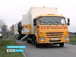 Кабинет врача в передвижном комплексе теперь могут посетить жители Липовки Бобровского района