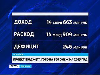 Казна Воронежа 2015 - опять тратим больше, чем зарабатываем