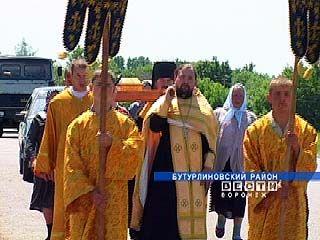 Крестный ход встретили жители Бутурлиновского района