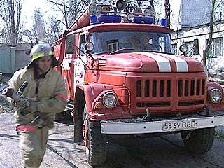 Крупный пожар произошел в Воронеже на улице 9 Января
