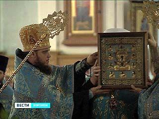 Курскую-Коренную икону Божьей матери привезли в Воронеж