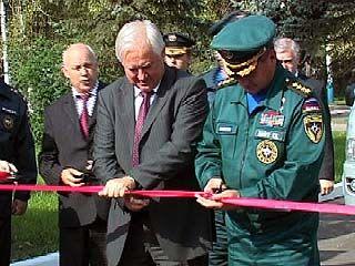 Министр МЧС России побывал на открытии пожарной части