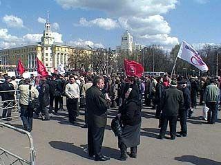 Митингующие потребовали сохранить электротранспорт