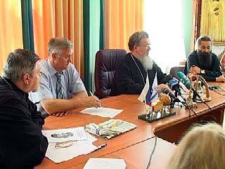 Митрополит Сергий и Владимир Кобяшев встретились с журналистами