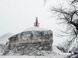 Московский художник устроил в Воронеже откровенный перфоманс