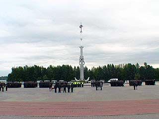 На Адмиралтейской площади прошел развод сил ГУВД