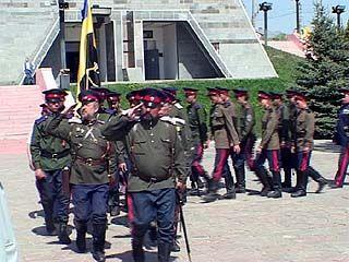 На Чижовском плацдарме завершился шестидневный верховой казачий поход