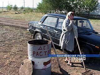 На границе с Волгоградской областью оборудован дезбарьер