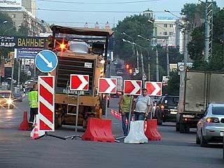 На Московском проспекте началась укладка нового дорожного полотна