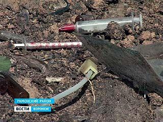 На окраине села Большая Верейка обнаружен могильник медицинских отходов