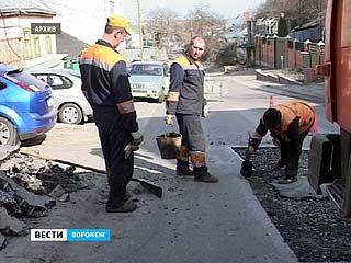 На улице Карпинского начались дорожные работы