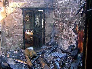 На улице Ломоносова произошел крупный пожар