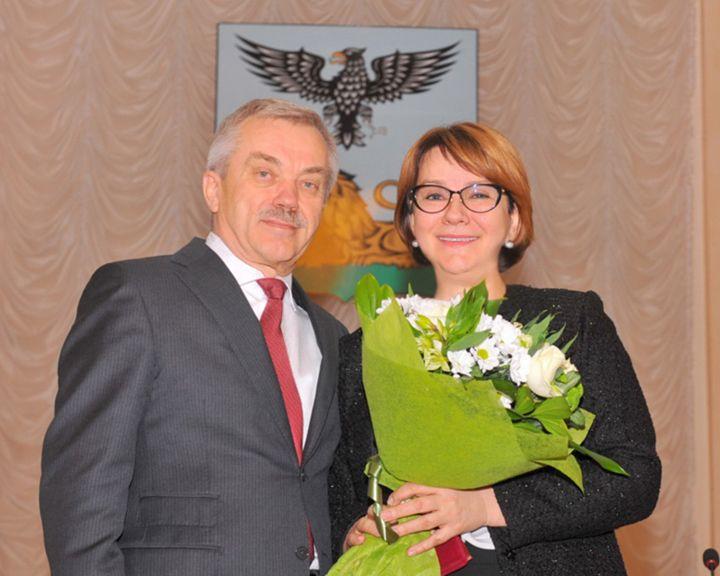 Наталия Ивлева награждена высшей наградой Белгородской области