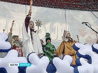 Необычно тёплое Рождество воронежцы встретили на главной площади