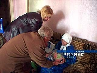Одну из старейших жительниц Калача поздравили с Днем пожилых
