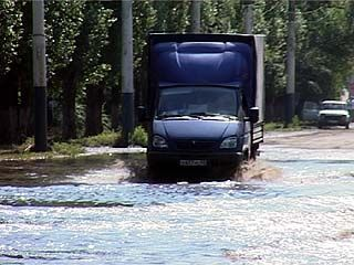 Озеро в районе Машмета - для местных жителей явление привычное