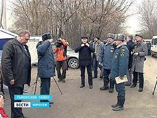 По прогнозам МЧС, спадет вода в Воронежском регионе не ранее, чем через месяц