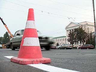 Подрядчики опаздывают с нанесением дорожной разметки в Воронеже