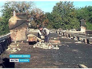 Погорельцы из Таловского района без крыши над головой не останутся