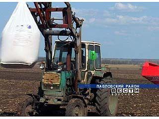 Полевые работы в Павловской области начались раньше чем в 2006 году
