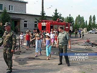 Пожарные встретились с детьми